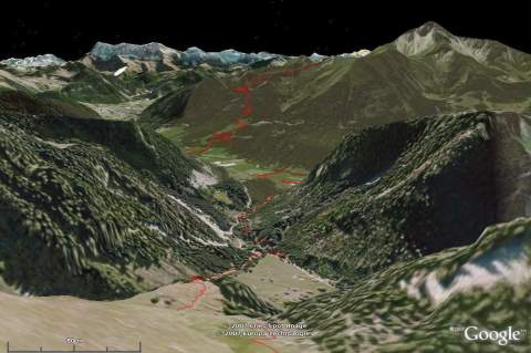 Same spot, synthesized by Google Earth