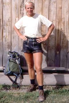 De auteur langs de GR5 in 1988