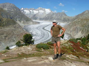 Overlooking the Aletsch Glacier
