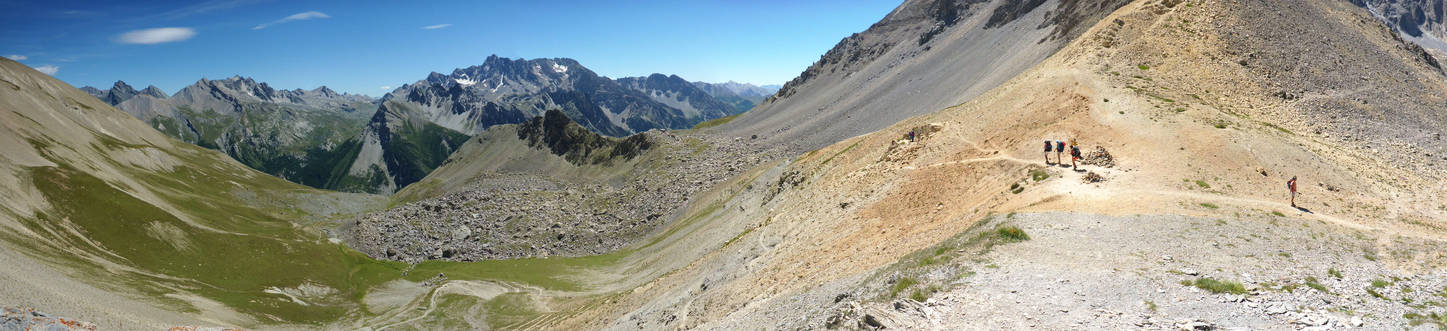 Panorama on the Col de Girardin, looking south
